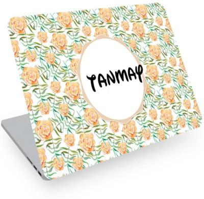 posterchacha Tanmay Name Floral Design Laptop Skin Vinyl Laptop Decal 14