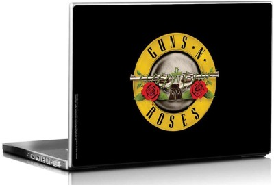 Bravado Guns N Roses Logo Black Vinyl Laptop Decal 15.6