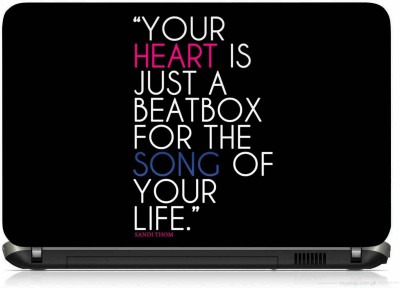 VI COLLECTIONS HEART SONG QUOTE PRINTED VINYL Laptop Decal 15.6
