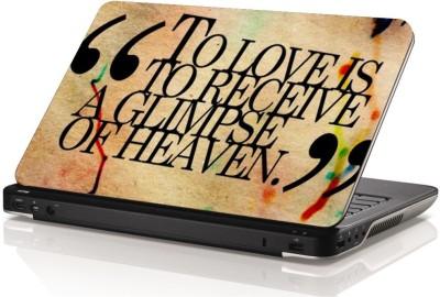 Swati Graphics SGLS046 Love Quotes Vinyl Laptop Decal 15.6