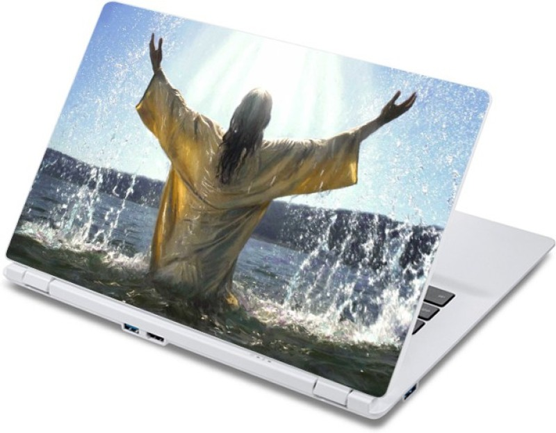 ezyPRNT Jesus in Water (13 to 13.9 inch) Vinyl Laptop Decal 13