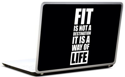 Lab No. 4 Fit Is Not The Destination Gym Vinyl Laptop Decal 17