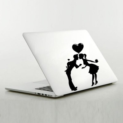 Decor Kafe Love Couples Sticker Self Adhesive Vinyl Laptop Decal 15.6