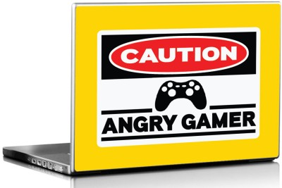Seven Rays Angry Gamer Vinyl Laptop Decal 15.6