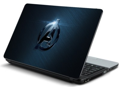 Psycho Art Bluish Avengers Logo Vinyl Laptop Decal 15.6