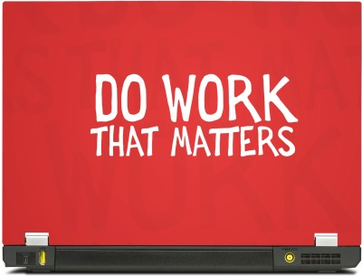 Skinkart Do Work That Matters Vinyl Laptop Decal 15.6