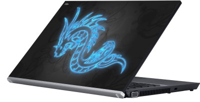Eclipse Digital Dragon Blue Vinyl Laptop Decal