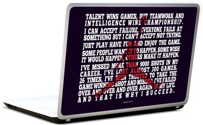 Lab No. 4 Talent Wins Games Michael Jordan Sportsman Vinyl Laptop Decal 17