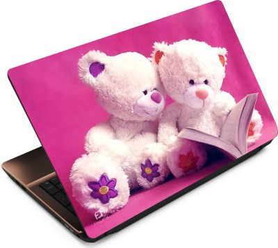 FineArts Teddy On Pink Vinyl Laptop Decal 15.6