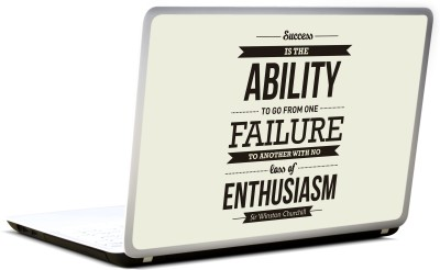 Lab No. 4 Success Is The Ability Vinyl Laptop Decal 17
