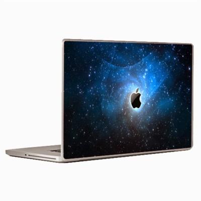 Theskinmantra Blue Apple Shine Universal Size Vinyl Laptop Decal 15.6