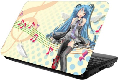 Printland Lady Guitarist Vinyl Laptop Decal 13.5