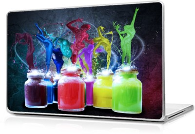Global Colorful bottles Vinyl Laptop Decal