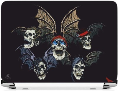 FineArts Skull with Wings Vinyl Laptop Decal 15.6