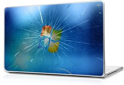 Global Windows Broken Glass Vinyl Laptop Decal 15.6