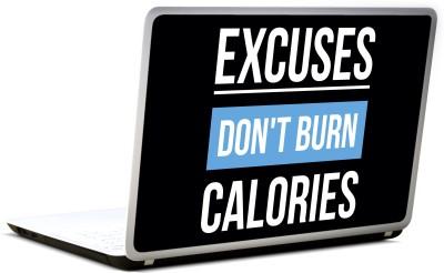 Lab No. 4 Excuses Don,T Burn Calories Gym Vinyl Laptop Decal 17