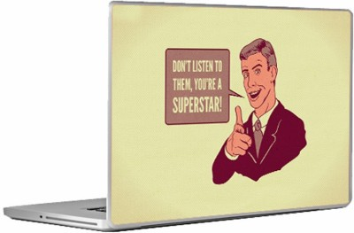 Swagsutra They cant break you! Laptop Skin/Decal For 14.1 Inch Laptop Vinyl Laptop Decal 14