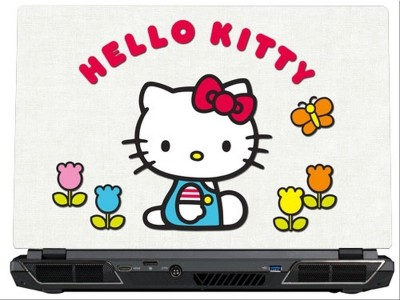 SkinShack Hello Kitty White & Red (13.3 inch) Vinyl Laptop Decal 13.3