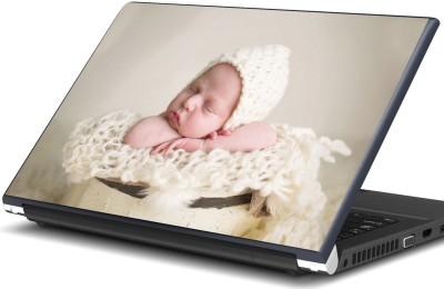 Artifa Baby sleeping in yellow bucket Vinyl Laptop Decal 15.6