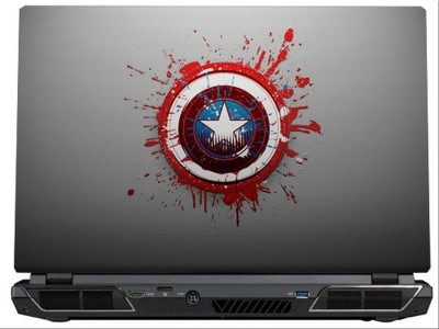 SkinShack Captain America Shirld Art Superhero (10.1 inch) Vinyl Laptop Decal 10.1