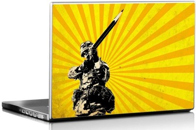 Seven Rays Pencil Soldier Vinyl Laptop Decal