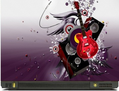 livestash 3d guitar vinyl Laptop Decal
