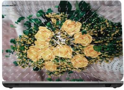 QP360 Yellow Rose Bunch 15.6 Vinyl Laptop Decal