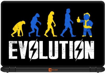 Ownclique Evolution Went Wrong Vinyl Laptop Decal 13.3