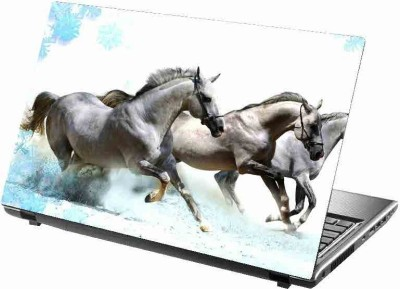 virtual prints horse image colors of white digitally printed vinyl Laptop Decal 15