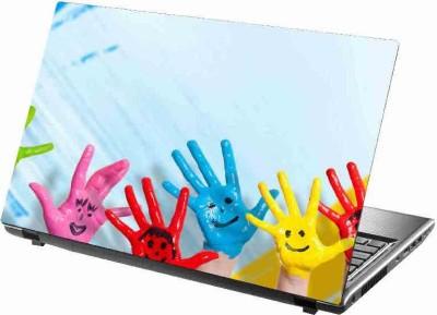 virtual prints hand image digitally printed Laptop Decal 15