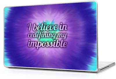 Automers Skin of Motivational Impossible - Reusable High Quality 3M Vinyl Laptop Decal 15.6