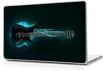 Global 3d guitar Vinyl Laptop Decal 17