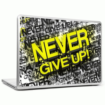 Headturnerz Never Give Up Vinyl Laptop Decal