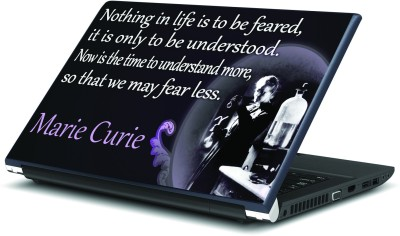 Artifa Fear Less Quote by Marie Curie Vinyl Laptop Decal 15.6