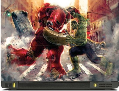 Livestash Hulk vs Iron Vinyl Laptop Decal