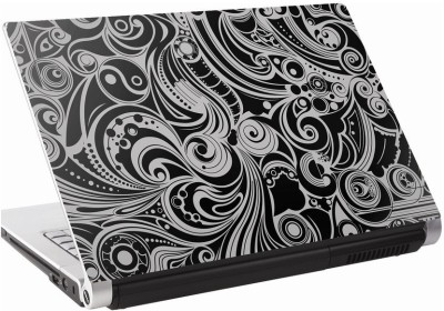 142Skin Abstract Art Blk_wht Vinyl Laptop Decal 15.6