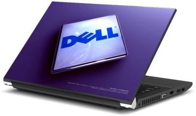Print Shapes Block Dell blue bg Vinyl Laptop Decal