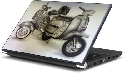 Artifa Vintage Scooters Artistic Vinyl Laptop Decal 15.6