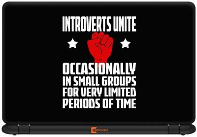 Urban Monk Introverts United Vinyl Laptop Decal 15.6