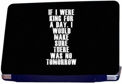 Incraze There Was No Tomorrow Vinyl Laptop Decal 15.6