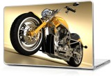 Global Super yellow bike Vinyl Laptop De...