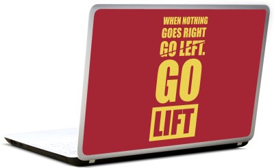 Lab No. 4 When Nothing Goes Right Go Left Vinyl Laptop Decal 17