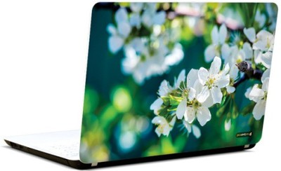 PicsAndYou Whimsical White Vinyl Laptop Decal 15.6