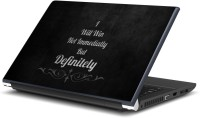 Artifa I will win quote Vinyl Laptop Decal 15.6