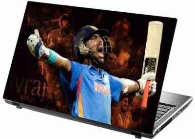 virtual prints cricketer image digitally printed Laptop Decal 15