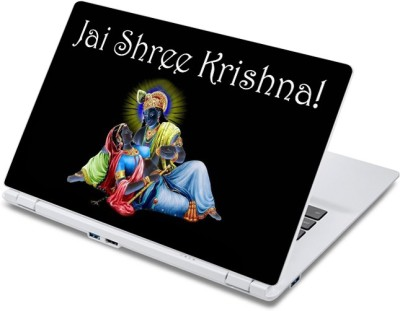 ezyPRNT Jai Shree Krishna (13 to 13.9 inch) Vinyl Laptop Decal 13