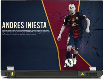 SkinShack Andres Iniesta Graphic Art (12.1 inch) Vinyl Laptop Decal 12.1
