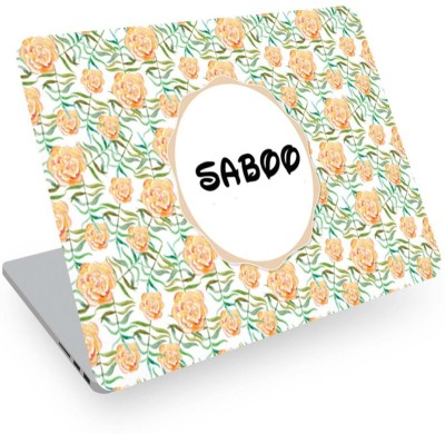 posterchacha Saboo Name Floral Design Laptop Skin Vinyl Laptop Decal 14