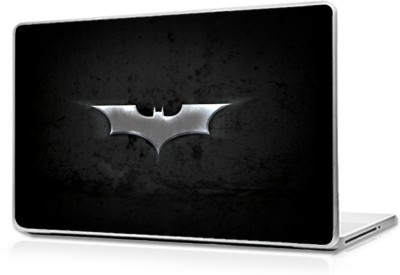 Global Batman Logo Silver Vinyl Laptop Decal 17.6