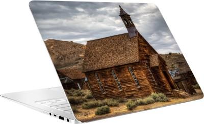 AV Styles Brown Wooden House Vinyl Laptop Decal 15.6